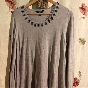 Vera Wang - Brown long sleeve shirt-Bedazzled